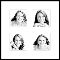 Jessica 10x10 framed BW 4up 3x3 fr
